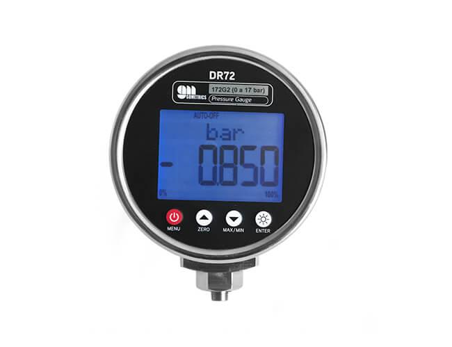 DR72 Manómetro digital de proceso y calibración